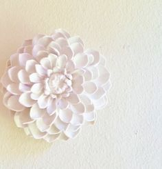 Dahlia flower sculpture stone flowers modern by RedwoodStoneworks