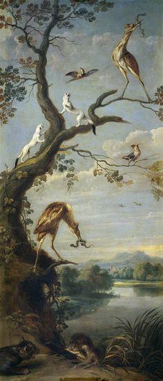 Frans Snyders (Flemish, 1579 - 1657) - Aves acuáticas y armiños, Primera mitad del siglo XVII. Museo Nacional del Prado, Madrid
