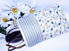 Blue Floral Soft Glasses Case, Double Eyeglass Case, Zipper Double Sunglasses Case, Double Pocket Zipper Pouch, Blue Soft Glasses Case by PhenomenalWomenShop on Etsy