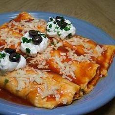 Easy Mashed Potato and Roasted Vegetable Enchiladas
