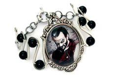 Neo Victorian Steampunk Goth Jewelry - Bracelet - Jardin Mecanique - Mr. Augustache. $40.00, via Etsy.