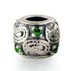 Gems and Silver Green Rock Crystal Birthstone Charms  Fit pandora,trollbeads,chamilia,biagi,soufeel and any customized bracelet/necklaces. #Jewelry #Fashion #Silver# handcraft #DIY #Accessory