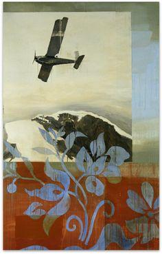 Flight Pattern     oil on canvas     67 x 42     2009