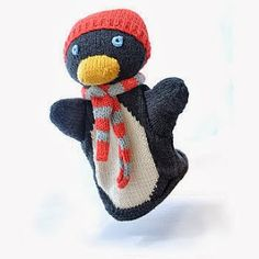 Cute Hand Knitted Organic Cotton Puppets for Christmas Gifts