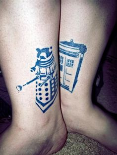 Doctor Who tattoos Body Art Tattoos, Life Tattoos, New Tattoos, Badass Tattoos, Couple Tattoos, Awesome Tattoos, Beautiful Tattoos, Ankle Tattoos, Incredible Tattoos