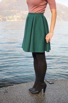Vintage style! Handmade retro 50s wool skirt