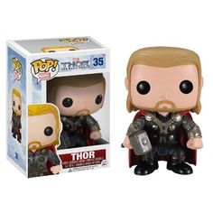 Available in: Item.Directly out of the Thor: The Dark World movie! The Thor The Dark World Thor Marvel Pop! Vinyl Bobble Head features the protagonist and Figurines D'action, Pop Figurine, Figurines Funko Pop, Funko Figures, Thor 2, Loki, Thor Marvel, Marvel Comics, Funko Pop Marvel