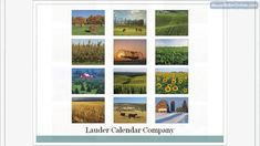 Agriculture is the main source of living. Promote your business with agricultural calendar. Check it out at: http://www.laudercompany.com/agriculture #business #promotion #gifts
