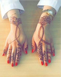 Arabic henna simple style