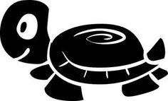 "4"" Baby Turtle Vinyl Sticker Decal [Die-cut, Black] + with Free Polka Dot Sticky Notepad by DECALROCKET, http://www.amazon.com/dp/B007ZK63EU/ref=cm_sw_r_pi_dp_xBLprb1Y9GJB7"