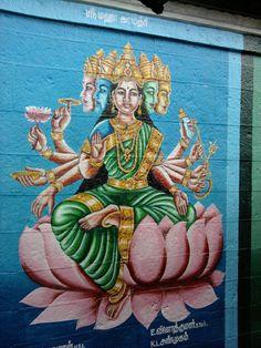 Singaravelar Temple - Sikkal Tamilnadu - India - wall painting