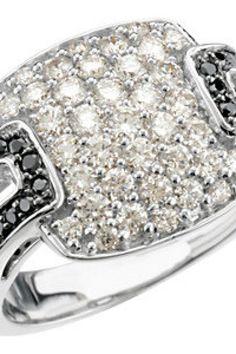 1 1/4 ct tw Black & White Diamond Ring    Quality - 14K White     Size - 1 1/4 CT TW     Finish - Polished     Series Description - BLACK AND WHITE DIAMOND RING       Weight: 6.89 DWT ( 10.72 grams)     thesgdex.com