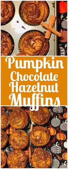Pumpkin Chocolate Hazelnut Muffins