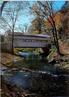 Knox Covered Bridge Valley Forge, Pennsylvania Spectacular view of the Knox Covered Bridge, one of the most scenic and photographed scenes in all of Valley Forge. The covered bridge over Valley Cree has been a Valley Forge Landmark since it was built in Old Bridges, Valley Forge, Covered Bridges, Places To See, Countryside, Nature, Beautiful Places, National Parks, Scenery