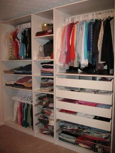 IKEA Pax organizers! Follow the link to see the bloggers before and after dressing room makeover!