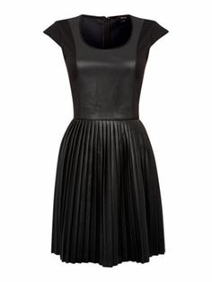 Therapy Faux leather Pleat dress - House of Fraser
