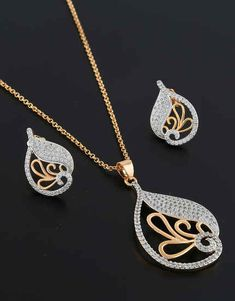 Gold Earrings Designs, Jewellery Designs, Necklace Designs, Ring Designs, Pendant Set, Diamond Pendant, Pendant Earrings, Gold Necklace, Wide Band Diamond Rings