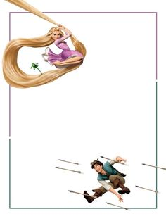 "Rapunzel & Flynn  - Project Life Disney Journal Card - Scrapbooking. ~~~~~~~~~ Size: 3x4"" @ 300 dpi. This card is **Personal use only - NOT for sale/resale** Logos/clipart belong to Disney."
