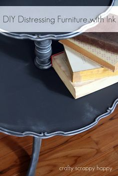 A table up-cycle and DIY distressing with ink!