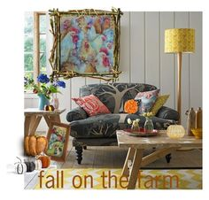 """""""Fall on the Farm - Farmhouse Style"""" by cravecute ❤ liked on Polyvore featuring interior, interiors, interior design, home, home decor and interior decorating"""