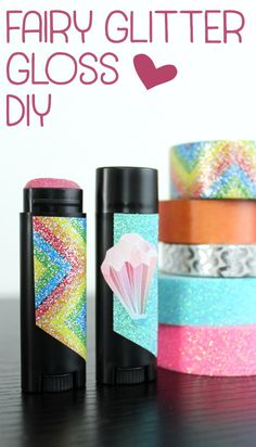 Learn how to make this fun, rose lemonade scented fairy glitter gloss! This magical fairy glitter gloss recipe is not only Glitter Lip Gloss, Diy Lip Gloss, Body Glitter, Diy Crafts For Teen Girls, Diy For Teens, Cool Diy, Easy Diy, Diy Beauty Makeup, Fun Makeup