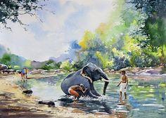 Elephant Bath Artwork