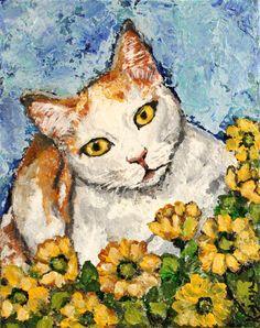 Cat Painting by Kendra Joyner