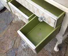 Shabby chic painted petite sideboard
