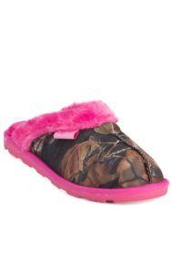 Blazin Roxx® Women's Hot Pink Sequins with Camo Slippers   Cavender's