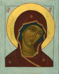 Theotokos by Kirsi Sipponen Orthodox Icons, Virgin Mary, Mona Lisa, Religion, Images, Marvel, Deco, History, Drawings