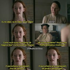 Queria ser chamada de magra e ruiva rs Anne Netflix, Series Movies, Tv Series, Meeting Of The Minds, Anne White, Anne Shirley, Anne With An E, Aesthetic Images, Powerful Quotes