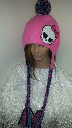 Monster High inspired fleece hat