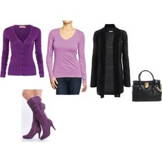 """""""Clear Winter - icy purple (icy orchid)"""" by adriana-cizikova on Polyvore"""