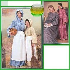 McCalls 3669 Ladies Prairie Pioneer Dress & Bonnet Patterns