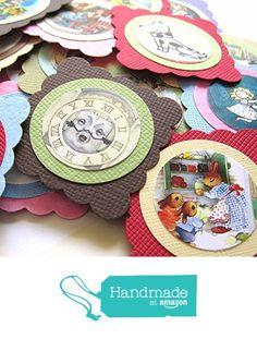 Children Storybook Square Favor Tags - Set of 24 from Adore By Nat https://www.amazon.com/dp/B01M8GFHDB/ref=hnd_sw_r_pi_dp_2CUhybTXGFGJH #handmadeatamazon
