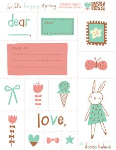 Free Spring Printable stickers