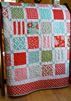 Quilt Baby Patchwork Vintage Modern Toddler Children Lap. $155.00, via Etsy.