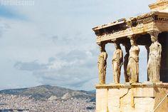 The Caryatid Porch of the Erechtheion. Acropolis, Athens, Greece. Sometime around 1999.