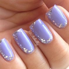 purple nails with sparkle