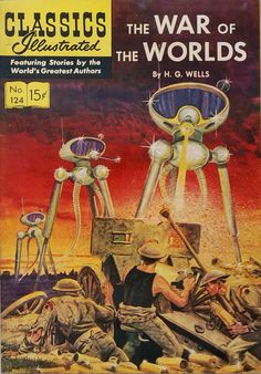 "Read ""War of the Worlds"" by H. Wells available from Rakuten Kobo. The War of the Worlds is a timeless science fiction novel by H. Vintage Comic Books, Vintage Comics, Vintage Stuff, Science Fiction Books, Pulp Fiction, Fiction Movies, Caricatures, Film D'animation, Sci Fi Books"