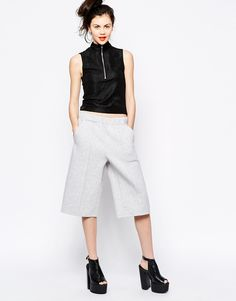 Monki, jersey culotte, $71.66, available at ASOS.