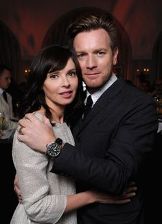 Oh My God, his eyes are gorgeous!! Ewan McGregor and Eve Mavrakis