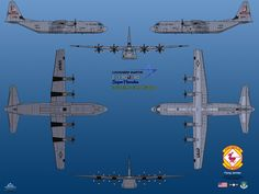 Second attempt to adding a real world aircraft in 6 profile drawing, still about the Big-J. This time the longer version. Variants: C-130J Super Hercules Tactical airlifter C-130J-30 Lockheed...