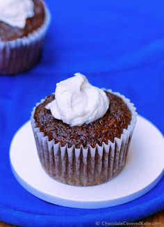 Secretly healthy chocolate cupcakes that can be sugar-free and oil-free. Under 100 calories per rich chocolate cupcake, including the peppermint cream filling: http://chocolatecoveredkatie.com/2014/12/30/peppermint-hot-chocolate-cupcakes/