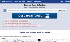 Bajar vídeos de Facebook es realmente sencillo, sólo tenemos que copiar y pegar su URL, con esta herramienta online gratuita.