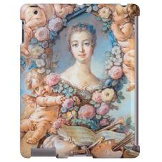 Madame de Pompadour François Boucher rococo lady ipad case #madame #pompadour #pastel #portrait #boucher #Paris #France #classic #art #custom #gift #lady #woman #girl