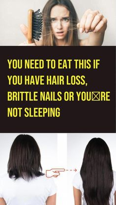 You Need To Eat This If You Have Hair Loss, Brittle Nails Or You�Re Not Sleeping #BestHairOilForHairLoss #CoconutOilAndHairLoss #OilForHairLoss