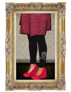 Black Rhinestone Skull Footless Tights | MamaSan Apparel