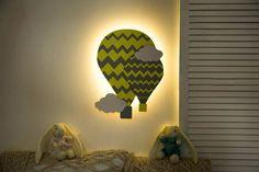Nursery Lighting Night light for Baby Room Air balloon night | Etsy Cloud Night Light, Nursery Night Light, Balloon Wall, Air Balloon, Balloons, Water Based Acrylic Paint, Nursery Lighting, Bedside Lamp, Newborn Gifts