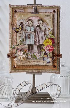 In The Garden Burlap Panel created for Simon Says Stamp...